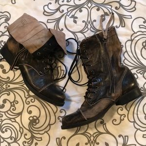 Aldo Distressed Military Boot- Size 7